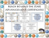 Reach Beyond the Stars Advancement Certificates