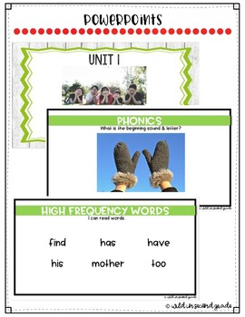 Reach For Reading Flip Charts for First Grade Unit 1 Week 1