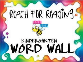 Reach For Reading Kindergarten Word Wall