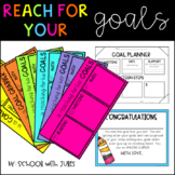 Reach For Your Goals (EDITABLE Goal Setting Packet and Bulletin Board)