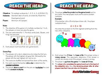 Reach The Head - 3rd Grade Math Game [CCSS 3.OA.C.7]