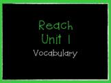 Reach Vocabulary  Grade 4