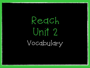 Reach Vocabulary  Grade 4