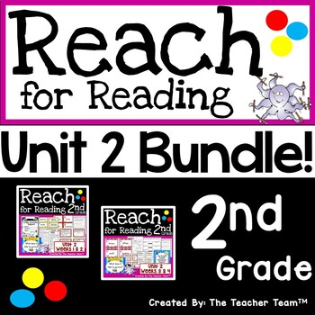 Reach for Reading 2nd Grade Unit 2 Bundle | National Geographic Printables