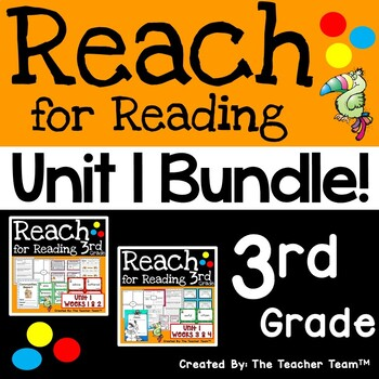 Reach for Reading 3rd Grade Unit 1 Bundle   National Geographic Printables