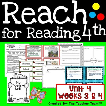 Reach for Reading 4th Grade Unit 4 Part 2 | National Geographic Printables
