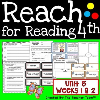 Reach for Reading Grade 4 Unit 5 Part 1 | National Geographic Printables
