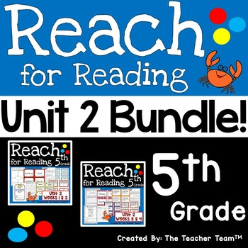 Reach for Reading 5th Grade Unit 2 Bundle | National Geographic Printables