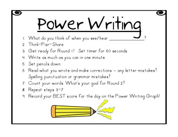 Reach for Reading National Geographic Best Practices Power Writing Routine