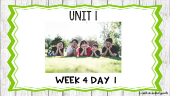 Reach for Reading First Grade Flip Chart Freebie Unit 1 Week 4 Day 1