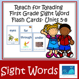 Reach for Reading First Grade Sight Words, Word Wall, Flash Cards