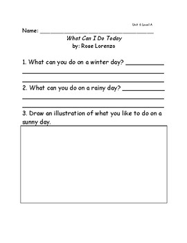 Reach for Reading Grade 1: Leveled Readers comprehension questions Unit 6