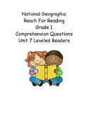 Reach for Reading Grade 1: Leveled Readers comprehension questions Unit 7