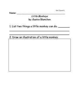 Reach for Reading Grade 1: Leveled Readers comprehension questions Units 5-8