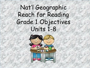 Reach for Reading Grade 1 Units 1-8 objectives
