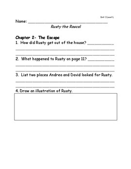 Reach for Reading Grade 2: Leveled Readers comprehension questions Unit 1