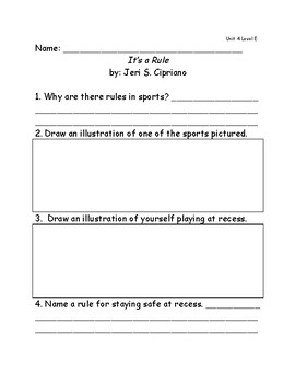Reach for Reading Grade 2: Leveled Readers comprehension questions Unit 4