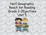 Reach for Reading Grade 3 Unit 5 Objectives