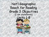 Reach for Reading Grade 3: Units 1-8 I can statements