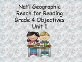 Reach for Reading Grade 4 Unit 1 Objectives