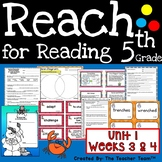 Reach for Reading 5th Grade Unit 1 Part 2 | National Geographic Printables