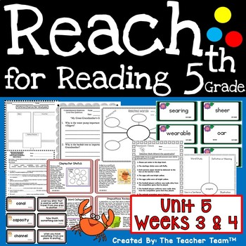 Reach for Reading Grade 5 ~ Unit 5 Weeks 3 and 4 Printable Activities