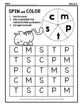 Reach for Reading KINDER SPIN & COLOR Fully Aligned Kindergarten PHONICS Bundle