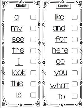 Reach for Reading Kindergarten Sight Word Book