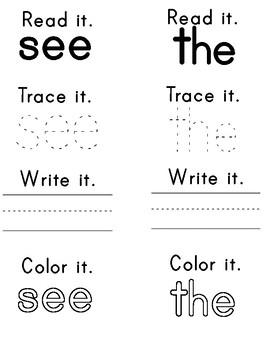 Reach for Reading Kindergarten Sight Word Books