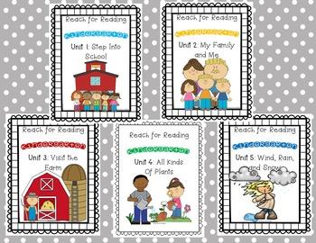 Reach for Reading: Kindergarten Units 1-5 Bundle