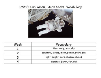 Reach for Reading Kindergarten Unit 8 Vocabulary Cards