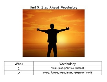 Reach for Reading Kindergarten Unit 9 Vocabulary Cards