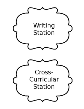 Reach for Reading Learning Station Headings