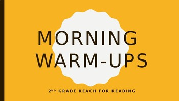 Reach for Reading Morning Warm-Ups