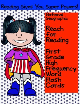 Reach for Reading National Geographic 1st Grade High Frequency Word Flash Cards