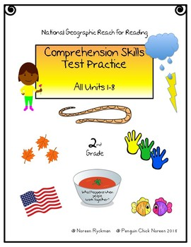 Reach for Reading National Geographic 2nd Grade Comprehension Test Practice ALL