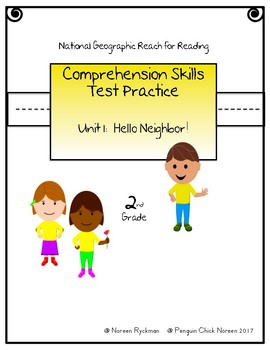 Reach for Reading National Geographic 2nd Grade Comprehension Test Practice U1