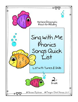 Reach for Reading National Geographic 2nd Grade Phonics Songs Quick List