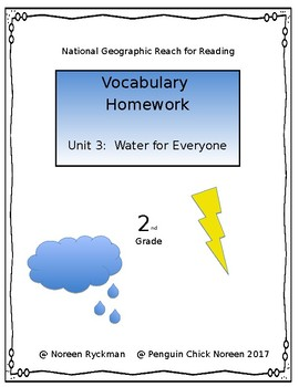 Reach for Reading National Geographic 2nd Grade Vocabulary Homework Unit 3