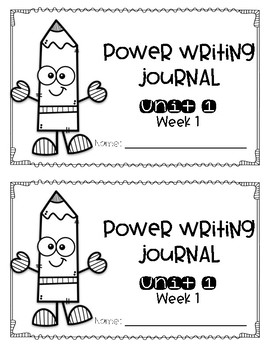 Reach for Reading Power Writing Journal Unit 1 First Grade HWT