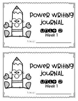 Reach for Reading Power Writing Journal Unit 2 First Grade HWT