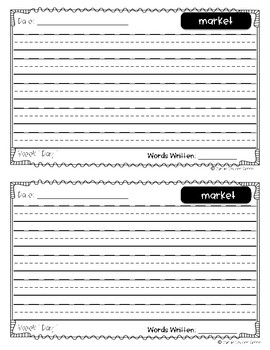Reach for Reading Power Writing Journal Unit 3 First Grade 3 lines
