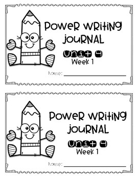 Reach for Reading Power Writing Journal Unit 4 First Grade 3 lines