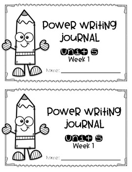 Reach for Reading Power Writing Journal Unit 5 First Grade 3 lines
