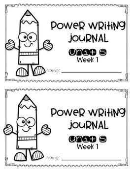 Reach for Reading Power Writing Journal Unit 5 First Grade HWT