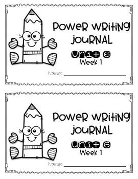 Reach for Reading Power Writing Journal Unit 6 First Grade HWT