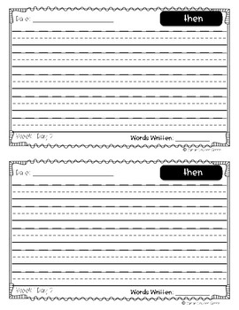 Reach for Reading Power Writing Journal Unit 7 First Grade 3 lines