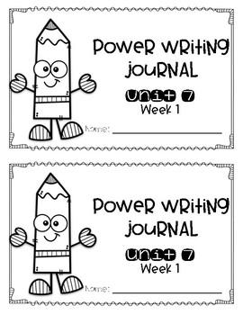 Reach for Reading Power Writing Journal Unit 7 First Grade HWT