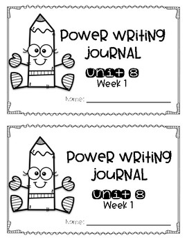 Reach for Reading Power Writing Journal Unit 8 First Grade 3 lines