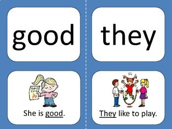 Reach for Reading Sight Word Flash Cards with Sentence K